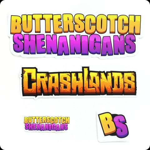 Butterscotch Sticker Logo Set