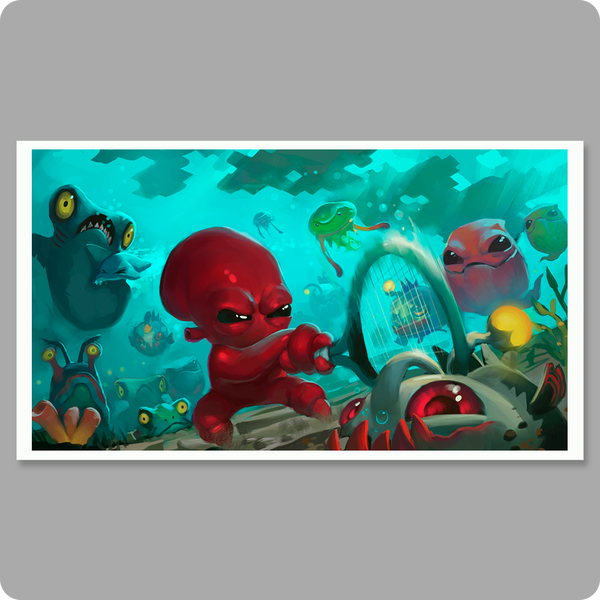 "Quadropus Rampage 12"" x 24"" Poster"