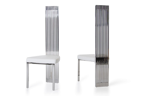 Modrest Elise Modern White Leatherette Dining Chair
