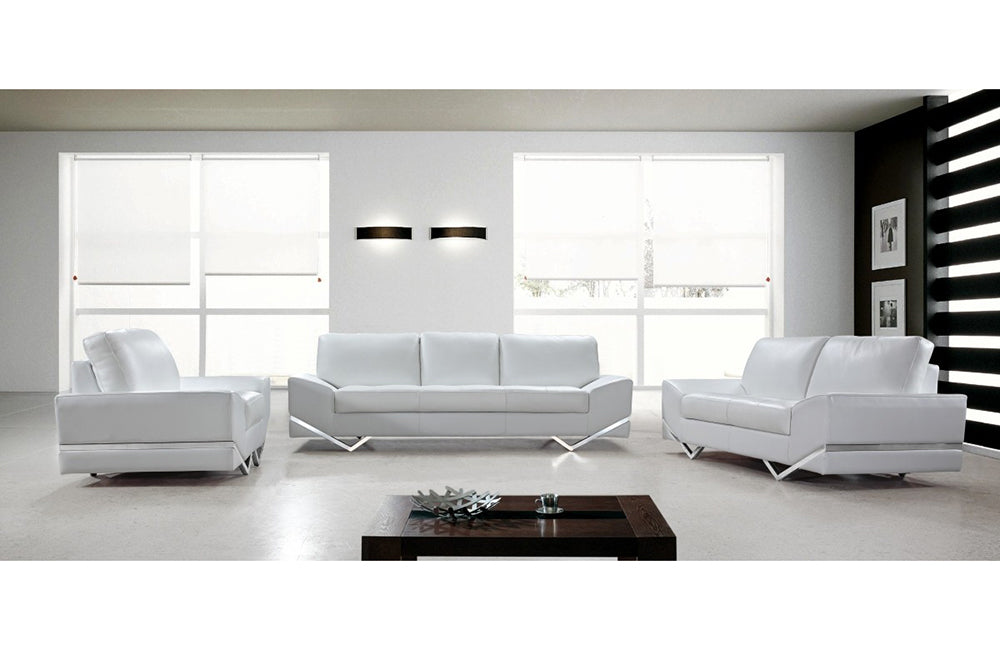 Terrific Adalynn White Modern Sofa Set Gamerscity Chair Design For Home Gamerscityorg