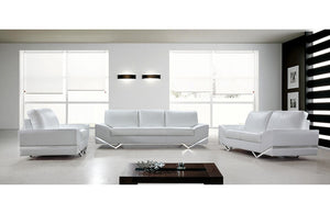 Adalynn White Modern Sofa Set