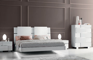 Status Caprice White Bedroom Set