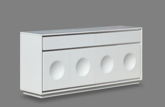 Angelina Modern White Buffet