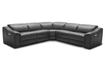 Milan Dark Grey Motion Sectional Sofa