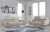 Divani Casa Velva Modern Beige & Brown Fabric Sofa Set