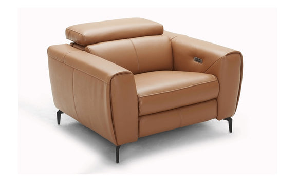 Scuzzo Caramel Reclining Leather Chair