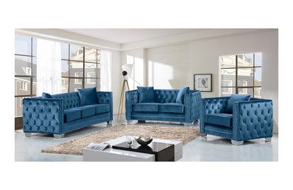 Outstanding Destry Light Blue Sofa Set Ibusinesslaw Wood Chair Design Ideas Ibusinesslaworg