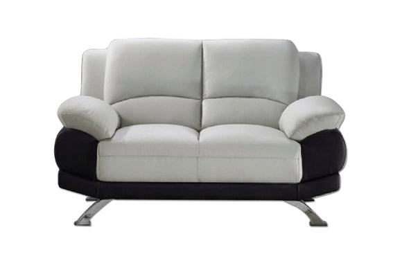 Adonia Loveseat Gray and Black