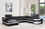 Lilah Modern Bonded Leather Sectional Sofa