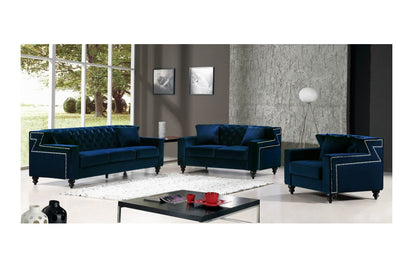 Callie Navy sofa set -Buy ($1200) in a modern furniture store ...