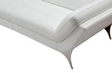 Finn Italian Modern White Leather Sectional Sofa