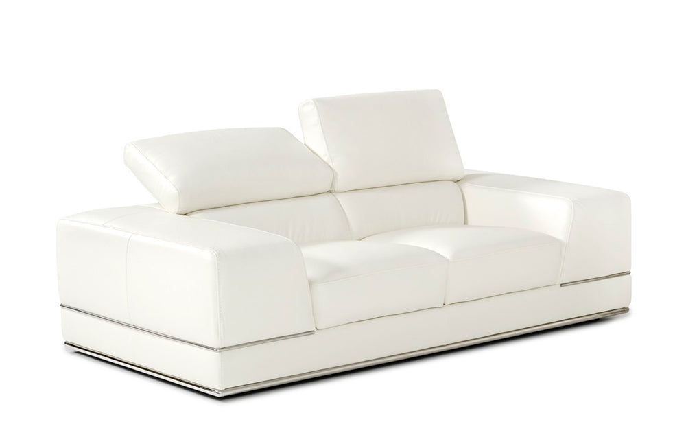 Phenomenal Seth Modern White Leather Sofa Set Ocoug Best Dining Table And Chair Ideas Images Ocougorg