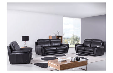 Giannes 3 PC Living Room Set Black
