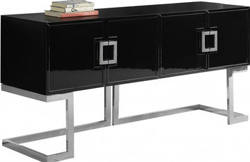 Aaden Black Chrome Buffet