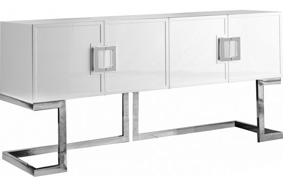 Aaden White Chrome Buffet