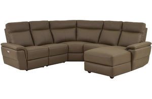 Nico Brown Leather Sectional Sofa