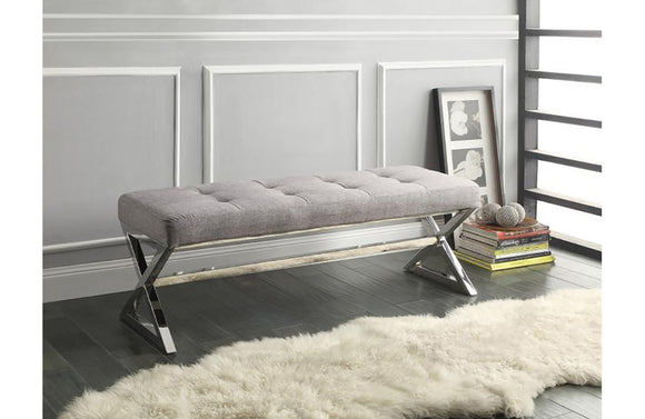 Lucy Gray Fabric Bench