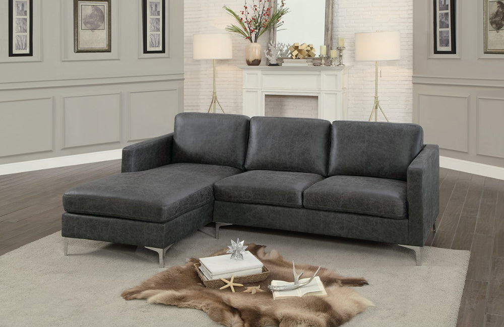 Jordan Gray Sectional Sofa Buy 987 In A Modern