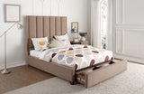 Celine Brown Storage Bed