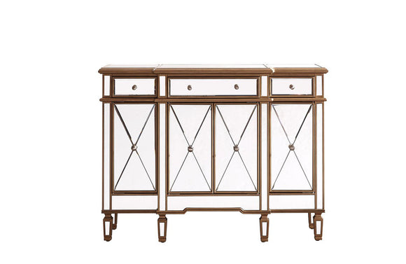 Modern 3 Drawer 4 Door Buffet Gold