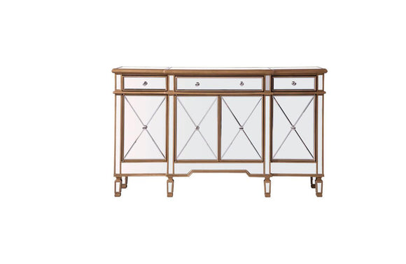Modern 3 Drawer 4 Door Console