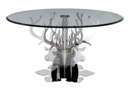 Hamlet Round Luxury Glass Dining Table