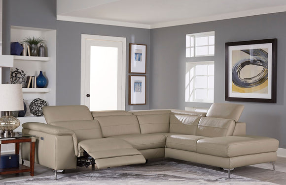 Michelle Taupe Reclining Sectional Sofa