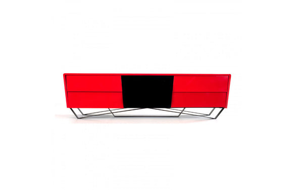Max Modern Red TV Stand