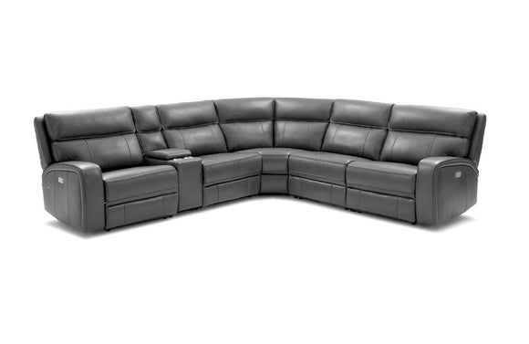 Rome 6Pc Motion Sectional Dark Gray