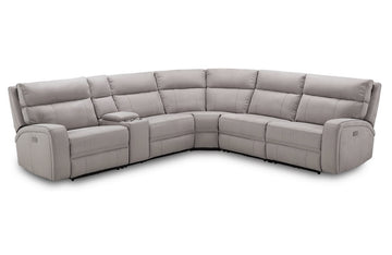 Rome 6Pc Motion Sectional Light Gray