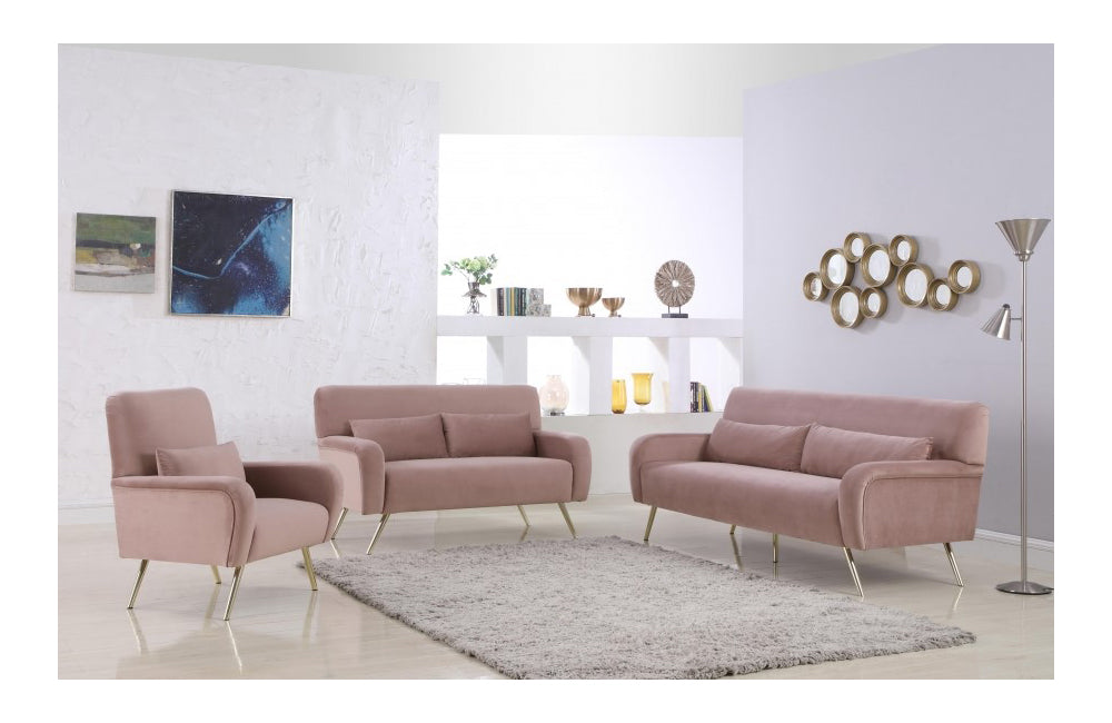 Amazing Melody Pink Sofa Set Onthecornerstone Fun Painted Chair Ideas Images Onthecornerstoneorg