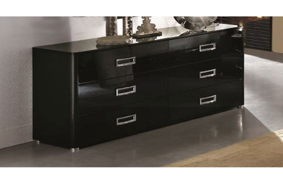 La Star Modern Black Double Dresser