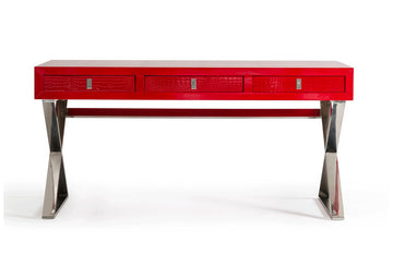 Congress Transitional Desk Red