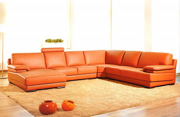 Roberto Modern Leather Sectional Sofa