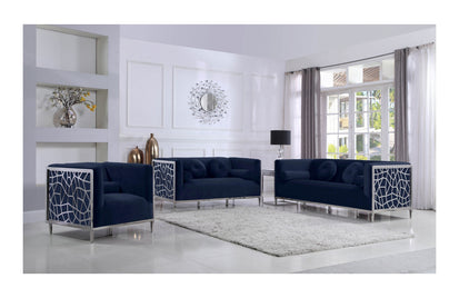 Parkin Navy Sofa Set -Buy ($1590) in a modern furniture store ...