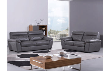 Damia 2 PC Living Room Set Gray