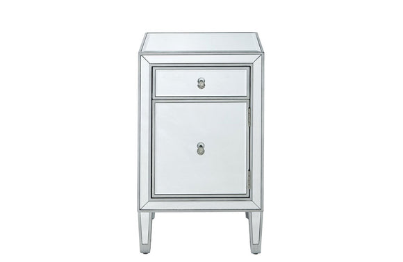 1 Drawer In Antique Silver Paint Nighstand Buy 457 In