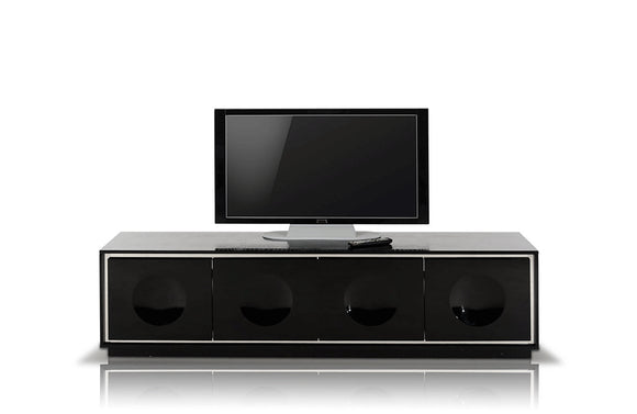 Grand Modern Black Lacquer TV Stand