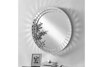Modern Round Mirror in Clear