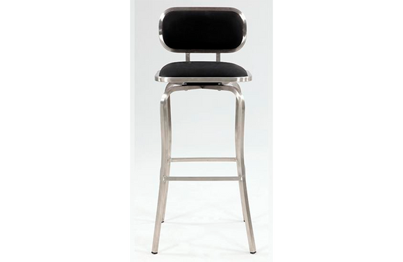 Ethen Modern Swivel Stool Black
