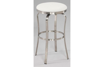 Emma Modern Backless Bar Stool White