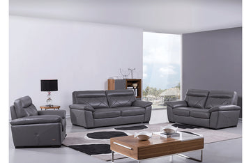 Damia 3 PC Living Room Set Gray