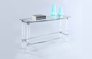 Carly Rectangular Glass Sofa Table