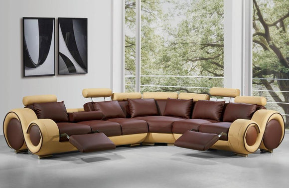 Anderson Modern Bonded Leather Sectional Sofa
