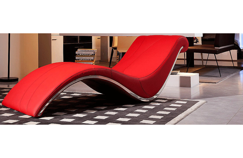 Essen Modern Leather Leisure Lounge Chaise Red Buy 1463
