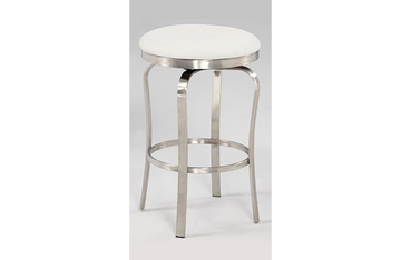 Emma Modern Backless Counter Stool White