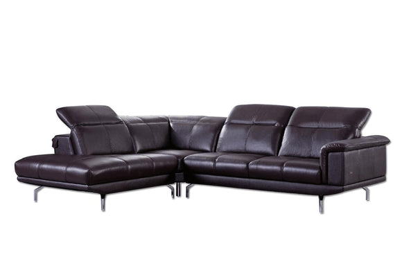 Elenitsa Sectional Sofa Dark Brown