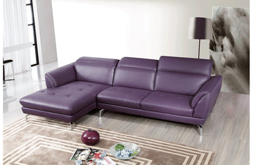 Sofronia Sectional Sofa Purple
