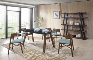 Ashton Modern Walnut Dining Set