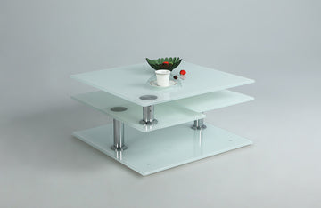 Alicia White Starphire Glass Motion Cocktail Table